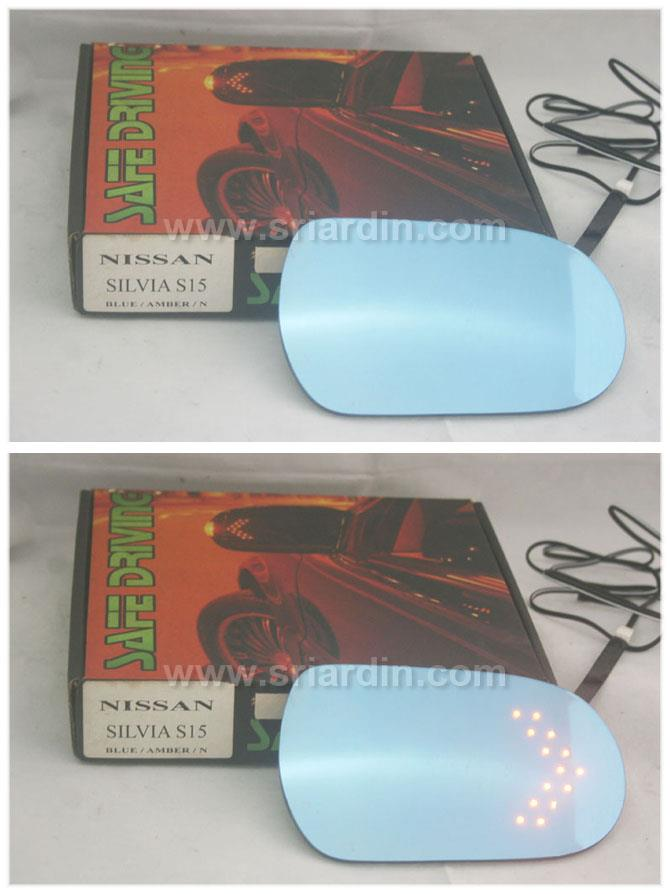 Nissan Silvia S15 Blue Side Mirror w LED Signal