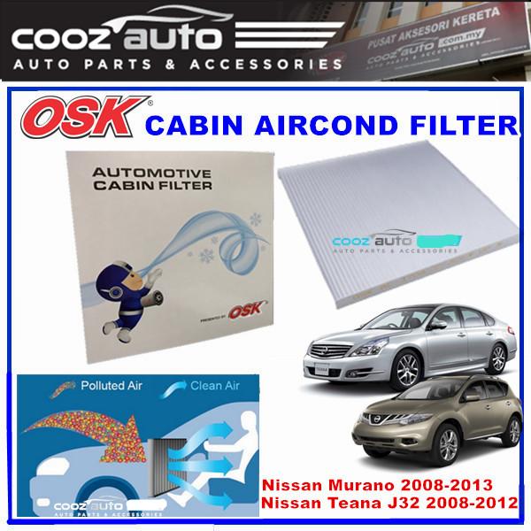 nissan teana j32 2 0 2 5 3 5 2008 - 2012 osk cabin aircond filter  ‹ ›