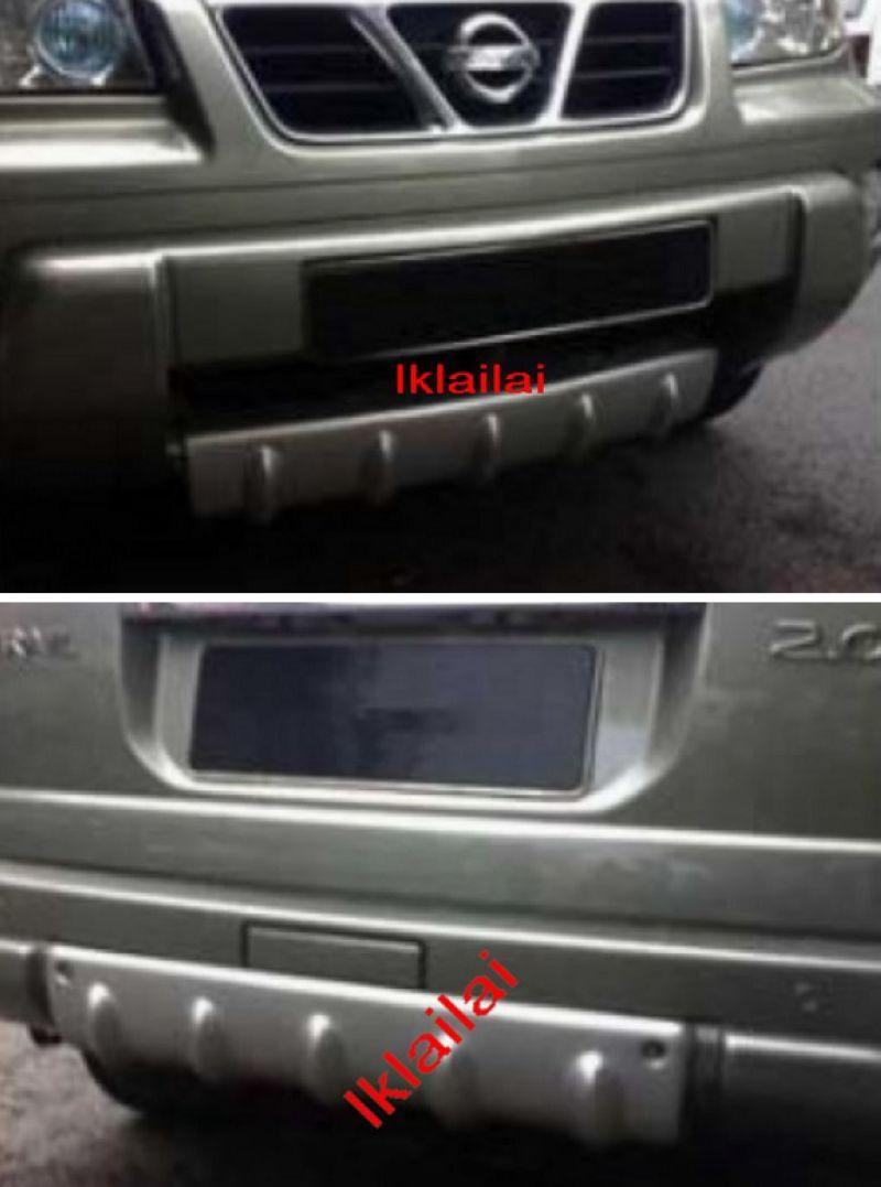 Nissan X-Trail '03 Front & Rear Bumper Sump Guard / Garnish ABS