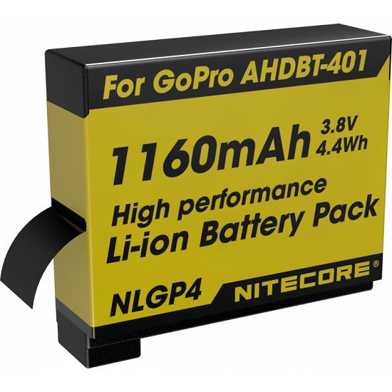 Nitecore 1160mAh 3.8V Rechargeable Li-ion Battery for GoPro HERO 4