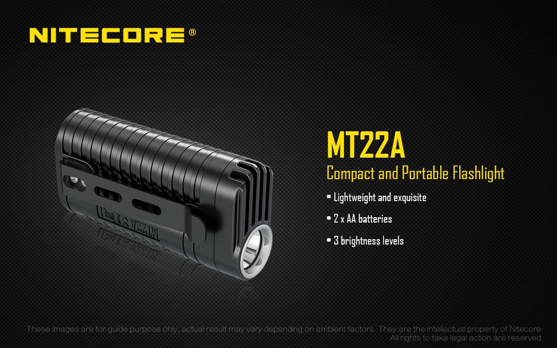 Nitecore MT22A Cree XP-G2 (S3) Pocket Clip LED Flashlight - 260 Lumens