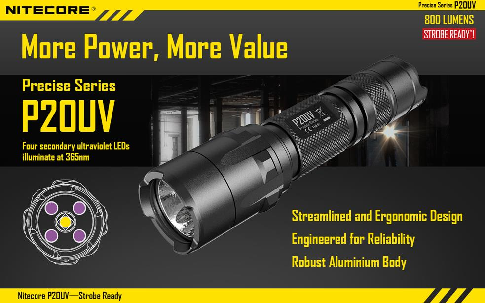Nitecore P20UV with Cree XM-L2 (T6) (end 10/1/2018 12:00 AM)