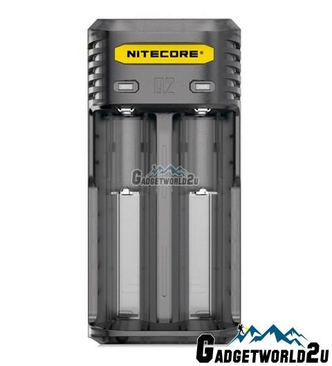 Nitecore Q2 2-Slot 2A Quick Charger for Li-ion / IMR Batteries Black