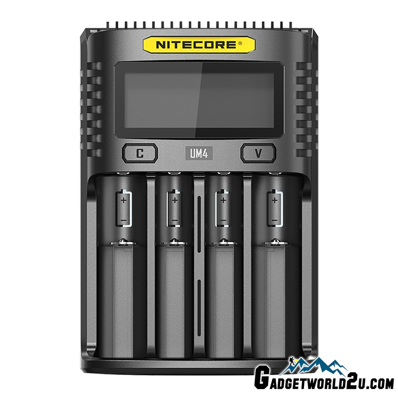 Nitecore UM4 Intelligent USB Four-Slot Li-ion NiMH Battery Charger