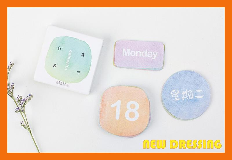 NK182 - Pastel Colour Date Label Sticker