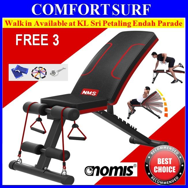 NEW NMS Gym Fitness Sit Up Dumbbell Weight Lifting 6 Pack Bench Chair