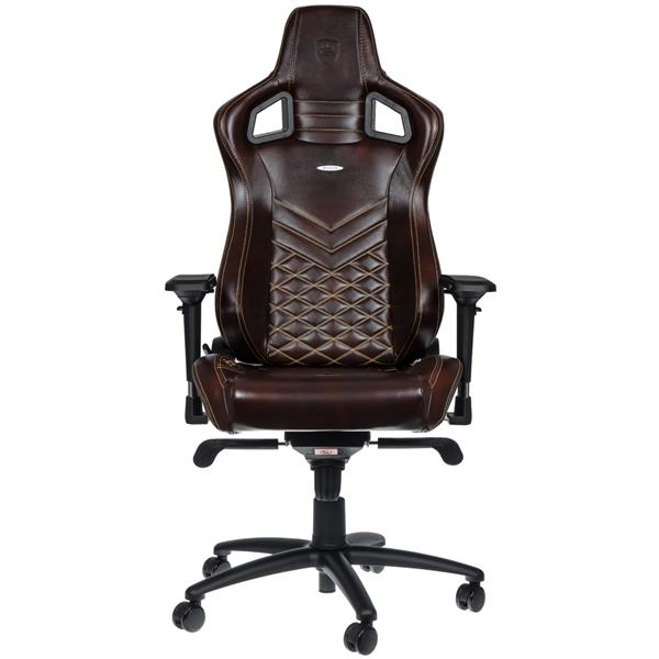 NOBLE CHAIRS EPIC REAL LEATHER BROWN (end 12/9/2018 1:15 AM)