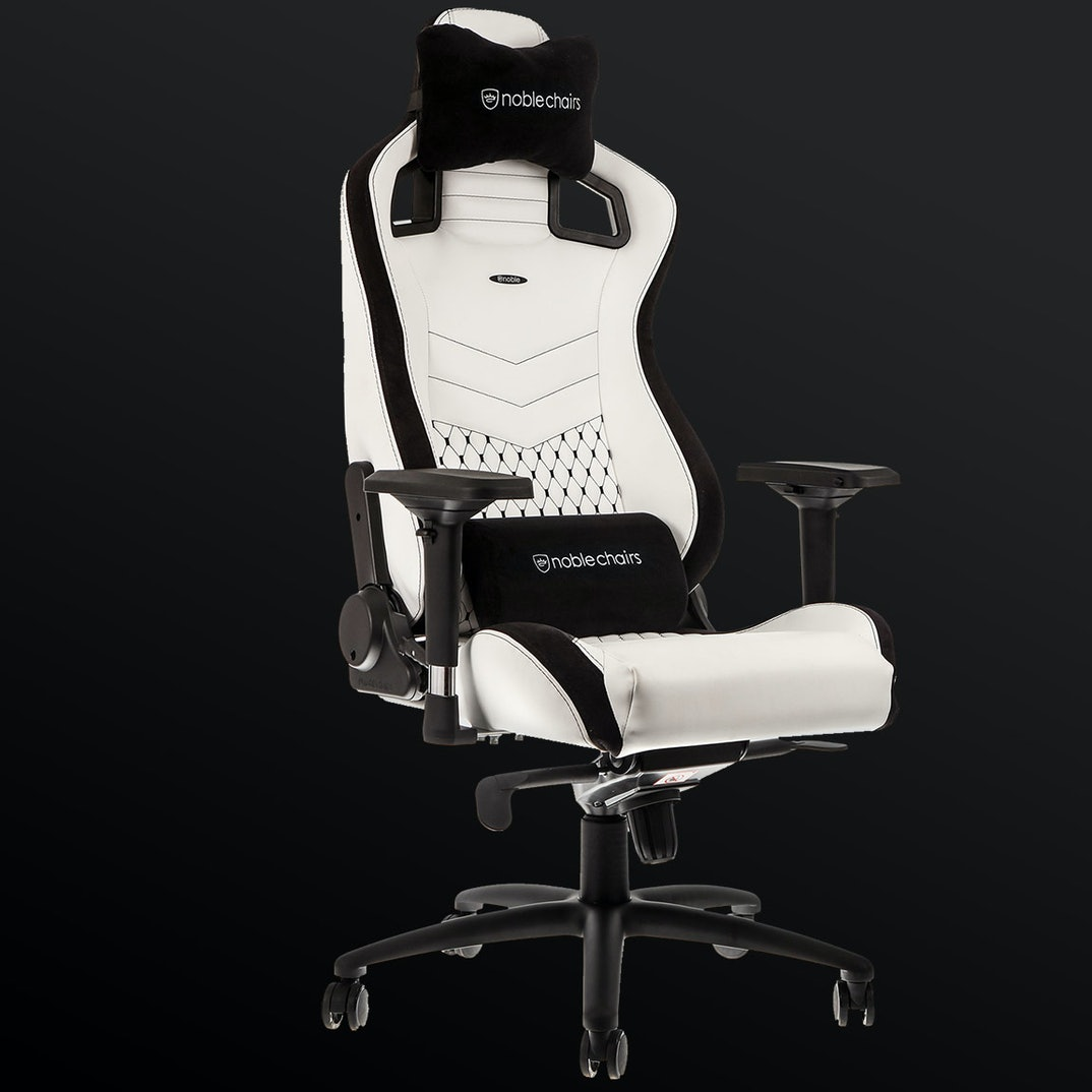 NOBLECHAIRS EPIC WHITE GAMING CHAIR - NBL-PU-WHT-002