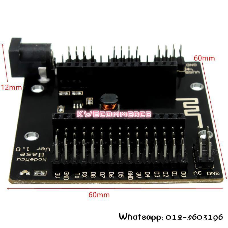NodeMCU Lua V3 ESP8266 WIFI Breakout Expansion Base Board Shield