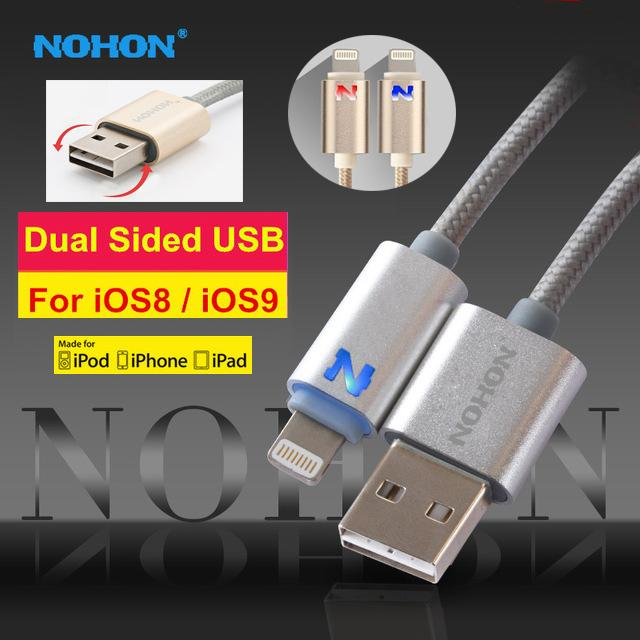 Nohon Iphone Flashing LED Lightning 8 Pin USB Charger Data Cable