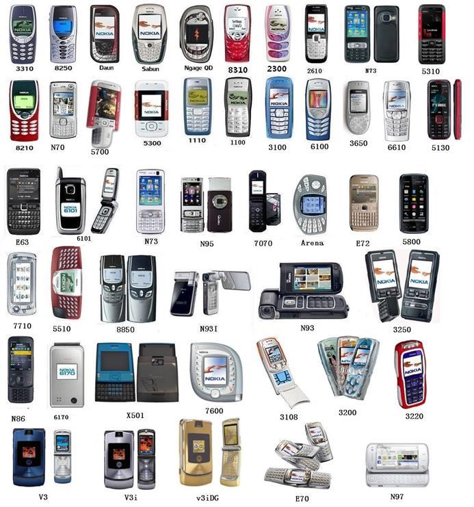 Nokia 2300/3310/8310/1100/3100/6600/7610/8250/5300/8850/N70/QD/Arena
