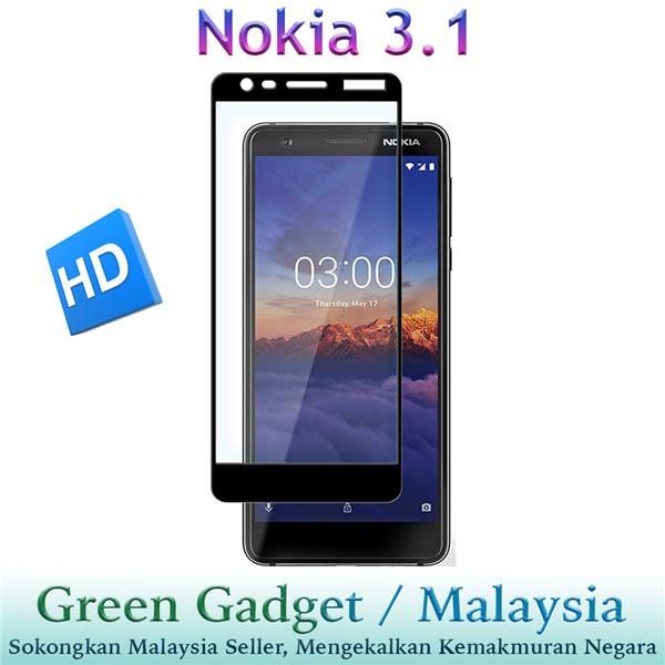 NOKIA 3.1 Full Glue Screen Protector Tempered Glass