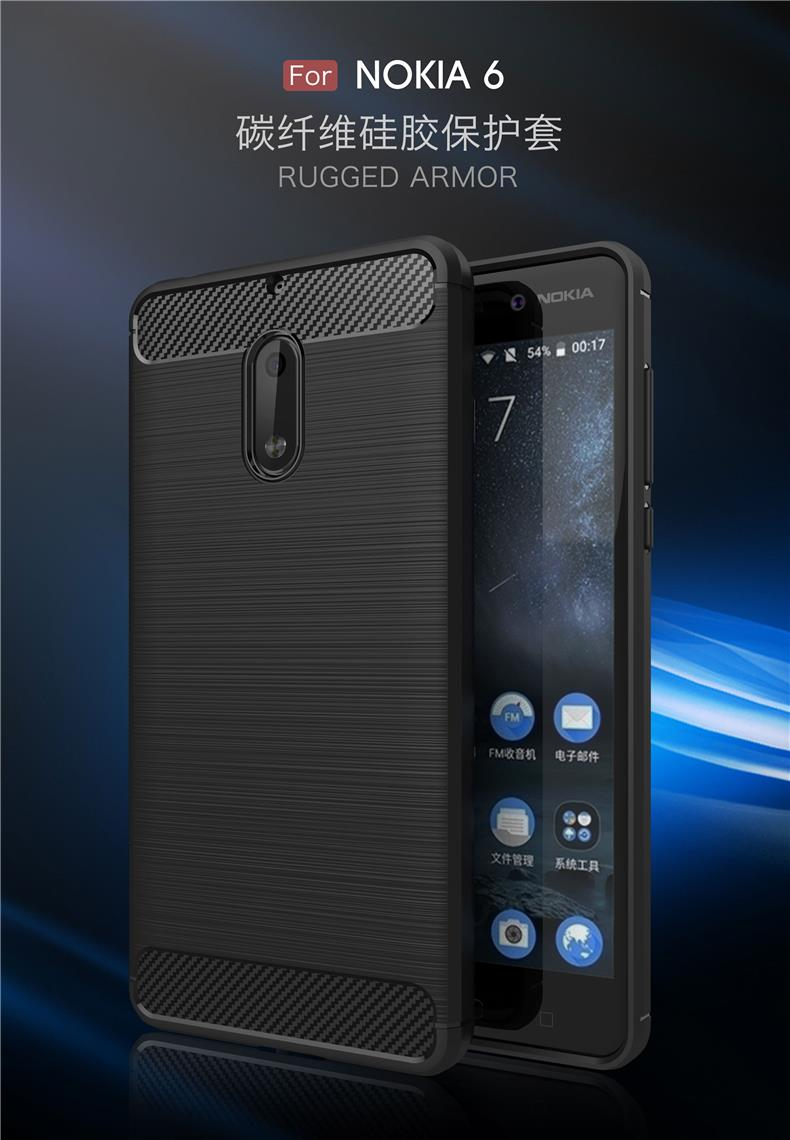 newest ba2d6 8b6d6 Nokia 3 5 6 8 - Silicone Soft TPU Rugged Armor Case Cover Casing