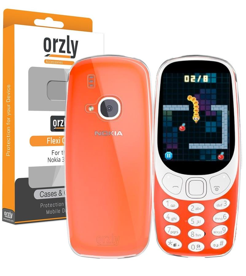 New Nokia 3310 - Orzly FlexiCase (2017 Version) - CLEAR [Slim-Fit]