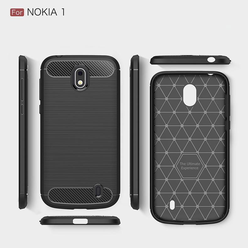 super popular ec5ec 64631 Nokia 5.1 Plus Nokia 6.1 Plus Nokia 1 Brushed Silicone Soft Case Cover  Casing