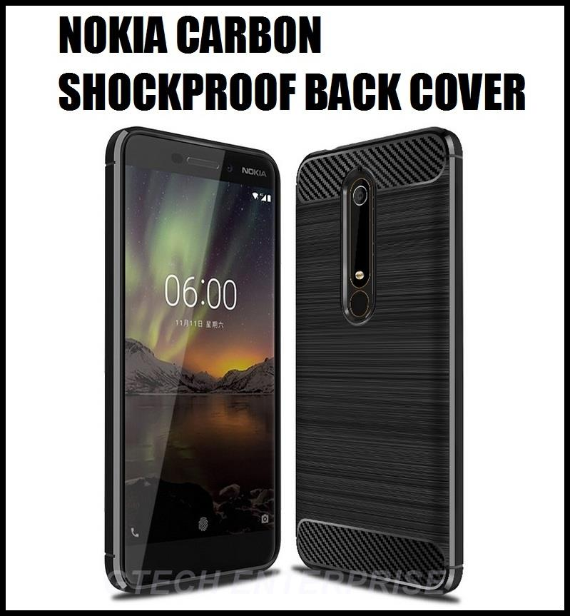 check out cede9 fdc61 Nokia 6.1 II 2018 7 Plus Carbon Shockproof TPU Back Cover Case