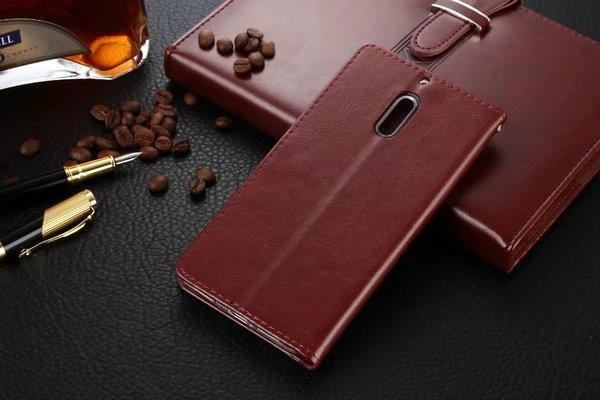 best loved 328e6 89a4a Nokia 6 silicon leather flip mobile protection case cover simple fancy