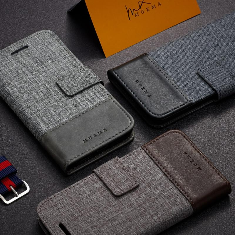 new styles f82a1 af95f Nokia 7 Plus Fabric Card slot jean flip wallet case casing cover