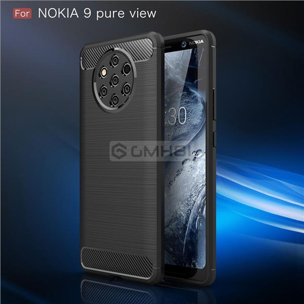newest d1e62 129e9 Nokia 9 PureView BRUSHED Rugged Tough Slim Armor TPU Bumper Cover Case