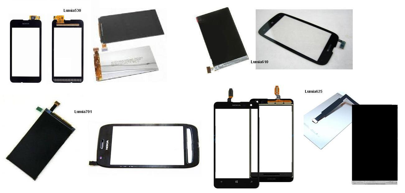 Nokia Lumia 530 610 625 701 N701 Display Lcd / Digitizer Touch Screen