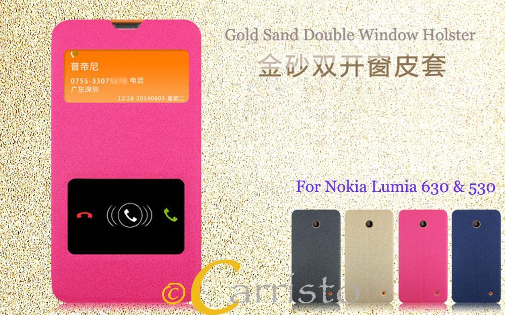 promo code 1f05c 81951 Nokia Lumia 630 , 530 Leather Flip Cover Case Casing Screen Protector