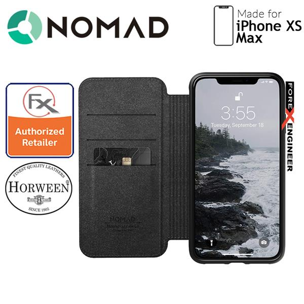 new york 126e5 eb8b4 Nomad Leather Folio Case for iPhone Xs Max