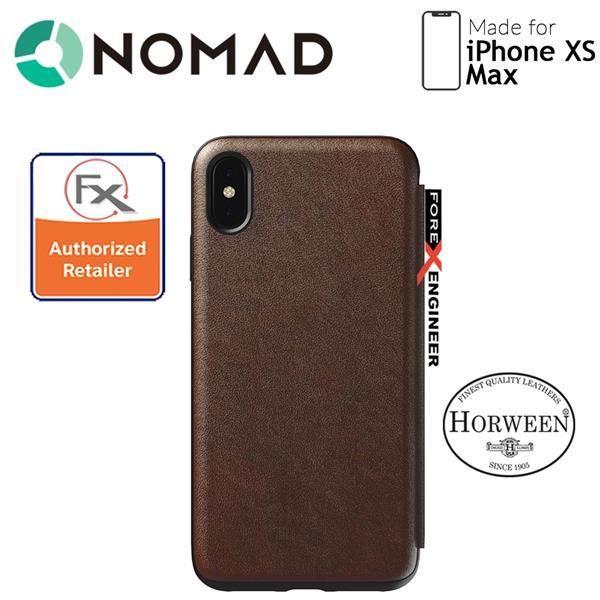 new york 084a8 ef11e Nomad Leather Folio Case for iPhone Xs Max