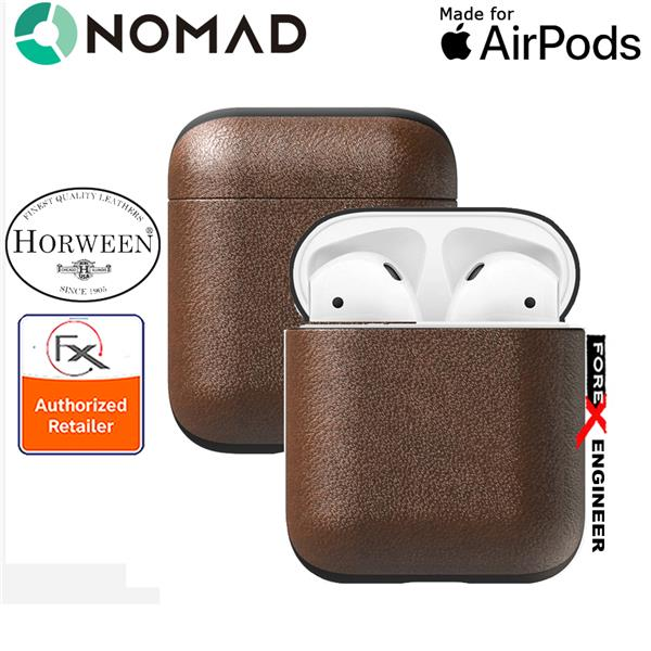 new arrival 4658e 02147 Nomad Rugged Case for AirPods - Genuine Premium Horween Leather