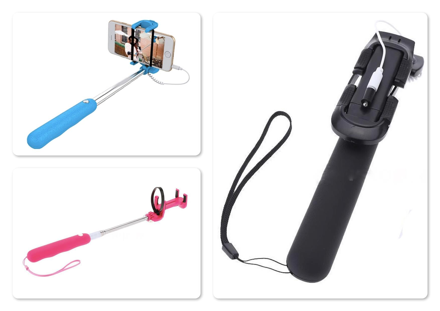 Noosy BR07 Mini Selfie Stick Monopod with Cable