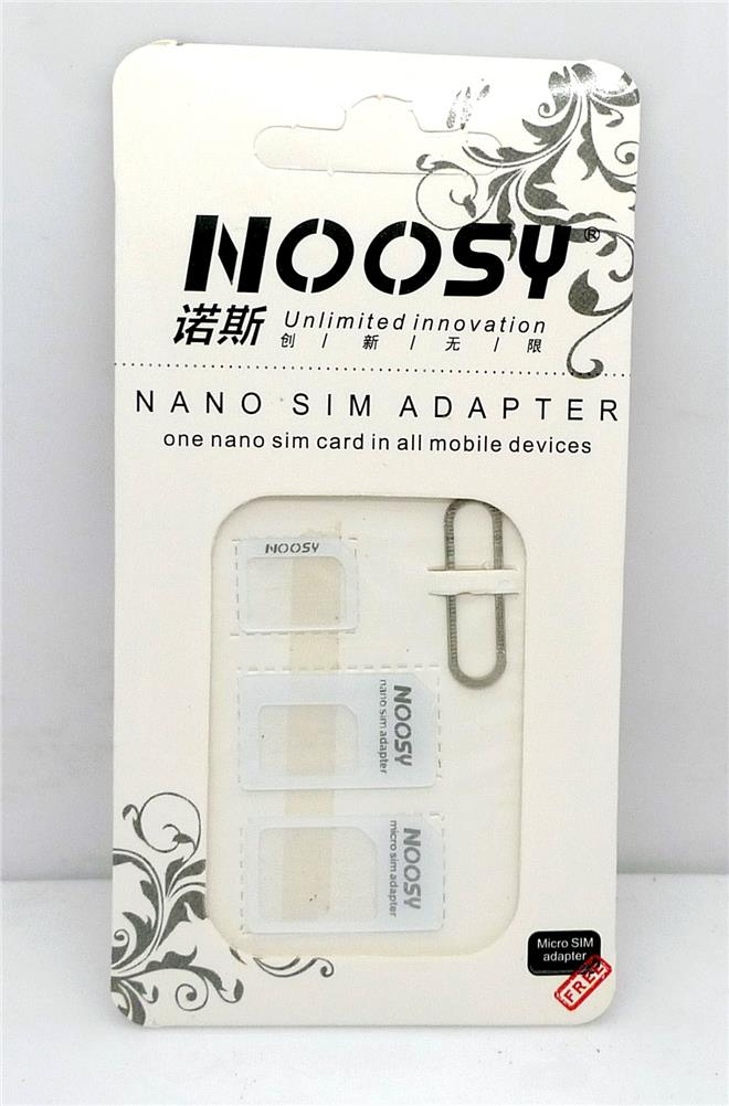 Noosy Nano Micro Standard Sim Card Adapter Eject pin Converter. ‹ ›