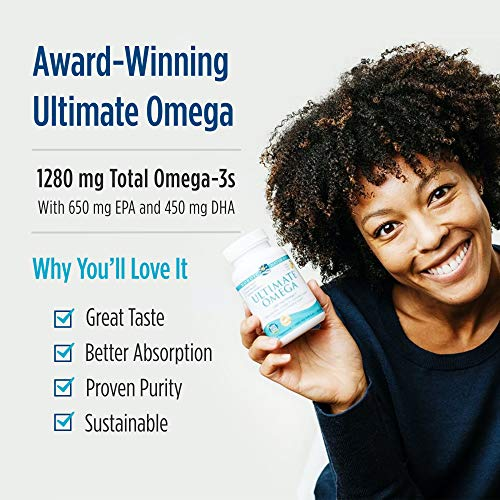 Nordic Naturals Ultimate Omega, Lemon Flavor - 1280 mg Omega-3-210 Soft Gels -