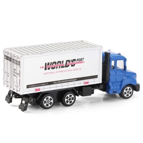 THE NORTH E HOME ALLOY 1:64 SCALE CONTAINER TRUCK TOY (BLUE)