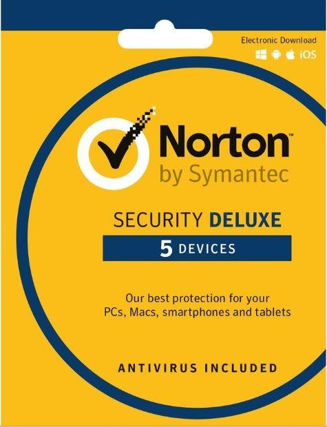 Norton Security Deluxe 2018 - 3 Year 5 Devices Windows Mac Android IOS