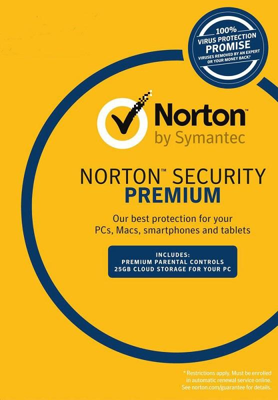 Norton Security Premium 2018 - 2 Years 10 Devices Windows Mac Android