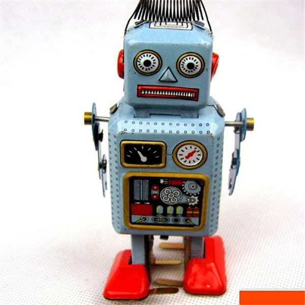 Cartoon Robot Toy : Nostalgic classic cartoon clockwork end pm