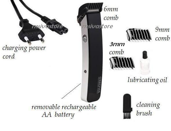 Nova NS 216. 9 in 1 Professional Smart Rechargeable Cordless Trimmer