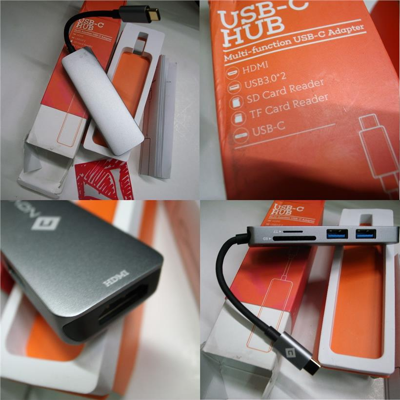 NOVOO TYPE C 5 in 1 Hub USB 3.0 HDMI SD Card Reader Rm120