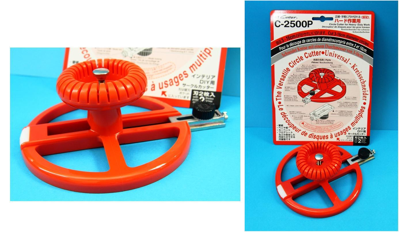 NT Cutter Heavy Duty Versatile Circle Cutter Cut 3-16cm Diameter