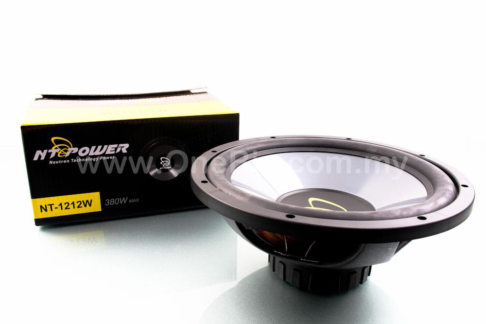 NT Power 12 inch Hi-Power SubWoofer (380W)-NT-1212W