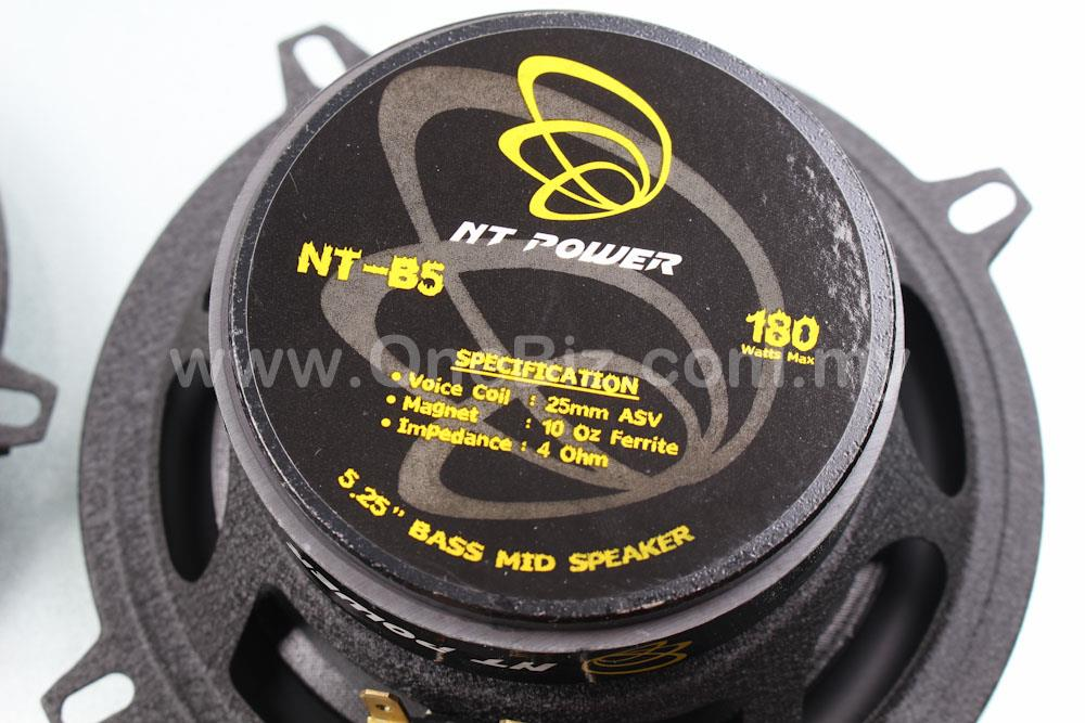 NT Power 5.25 inch Bass Mid Speaker (180W)- NT-B5