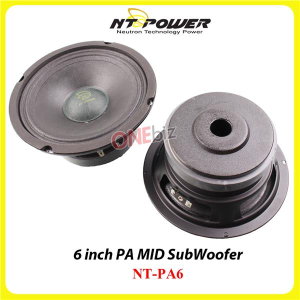 NT Power 6 inch PA MID SubWoofer - NT-PA6
