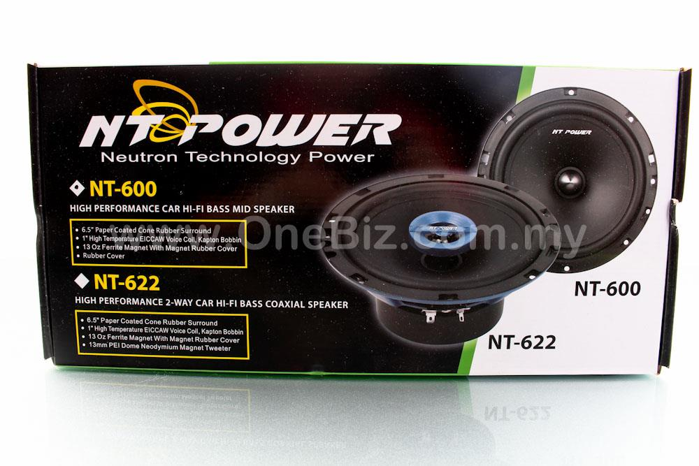 NT Power High Performance Car Hi-Fi Bass Mid Speaker (280W)- NT-600