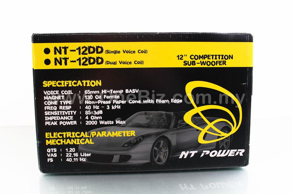 NT Power Single Voice Call 12' Competition SubWoofer (2000W)-NT-12DD-1