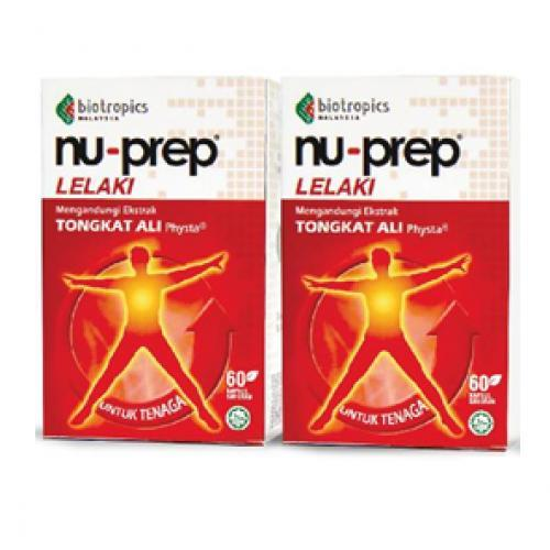 Nu-Prep Tongkat Ali Twinpack (60+60's) (For Men Energy & Vitality)
