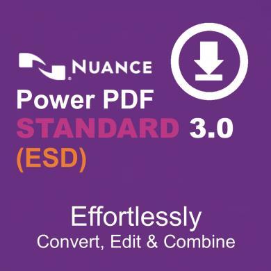 NUANCE Power PDF 3 Standard Download (ESD) ESN-AS09Z-W00-3 0