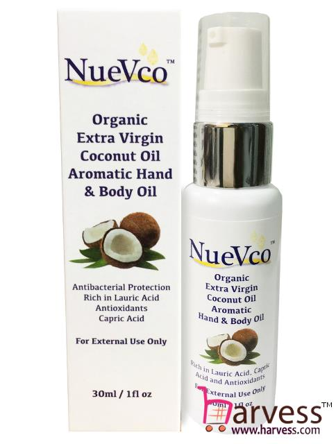 NUEVCO Organic Extra Virgin Coconut Oil Aromatic Hand & Body Oil. ‹ ›