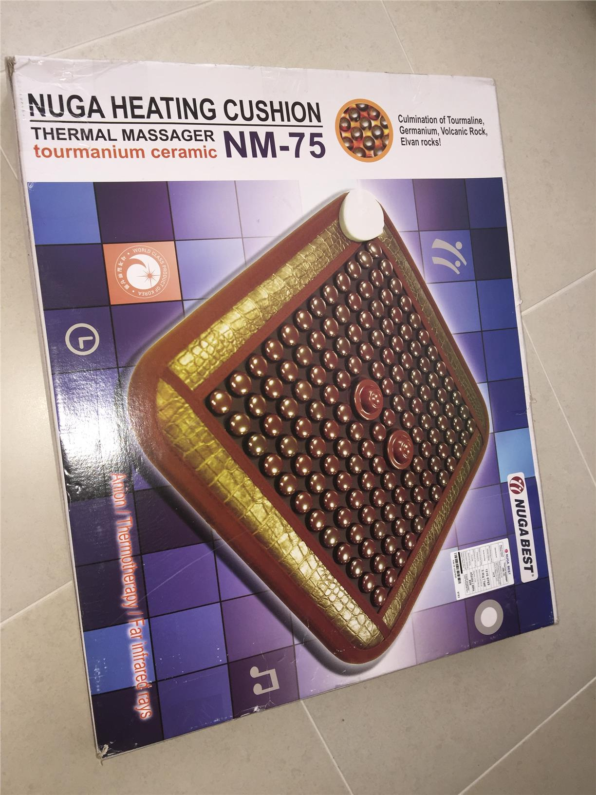 NEW Nuga Best Tourmanium Thermal Massage Pad