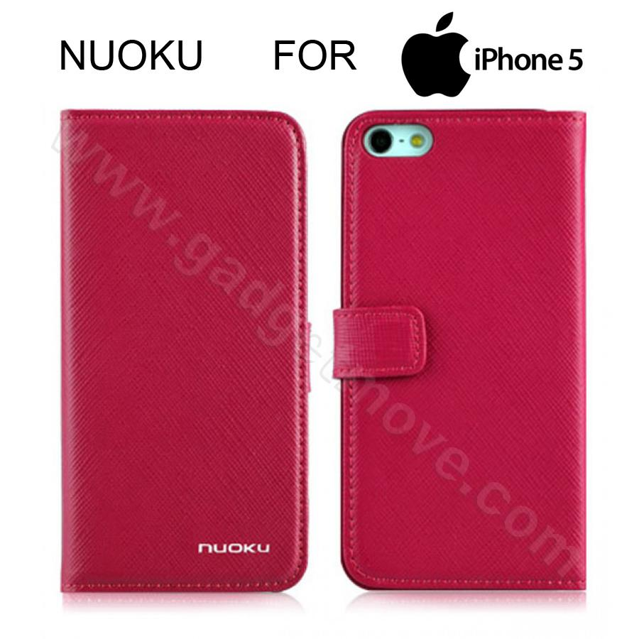 san francisco 4835a 9a013 NUOKU Book Stylish Premium iPhone 5S 5 SE Flip Cover Leather Case