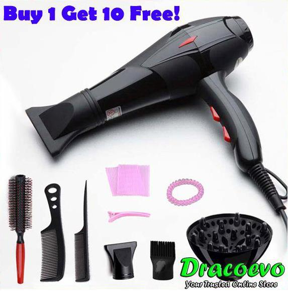Nuomeisi Professional Electric Handle Hair Dryer Blow Free 10 Gifts
