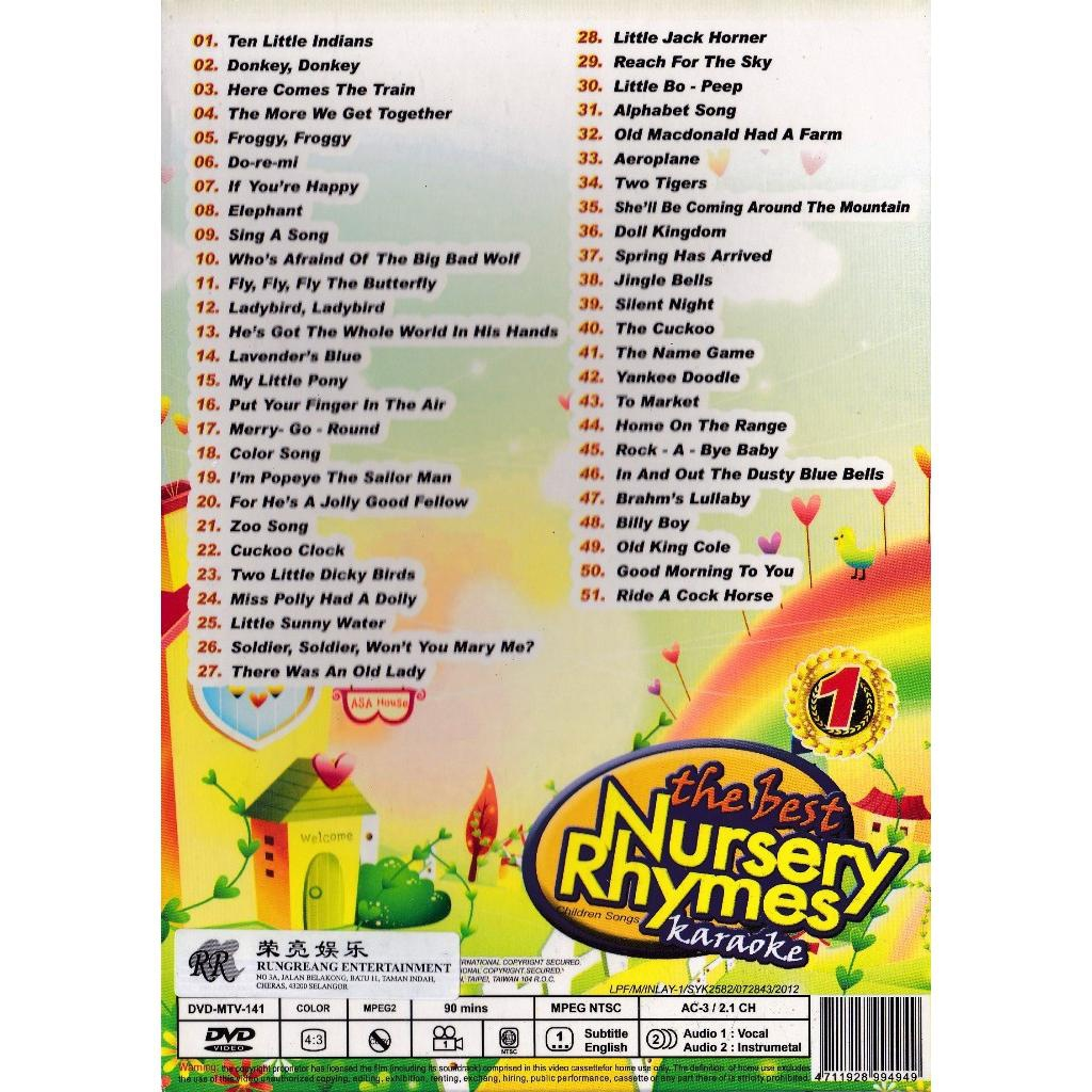 The Best Nursery Rhymes Children Songs Karaoke Vol 1 Dvd